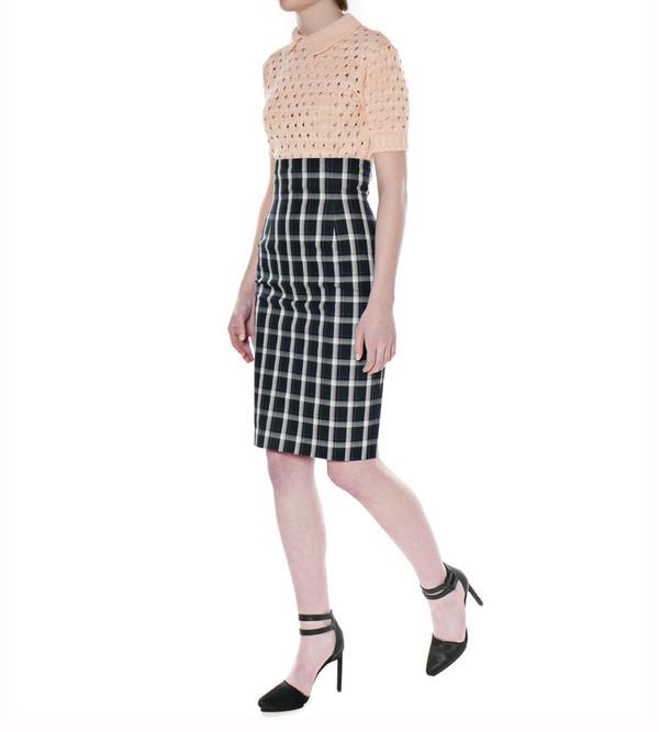 G.V.G.V. Tartan Check Fitted Skirt