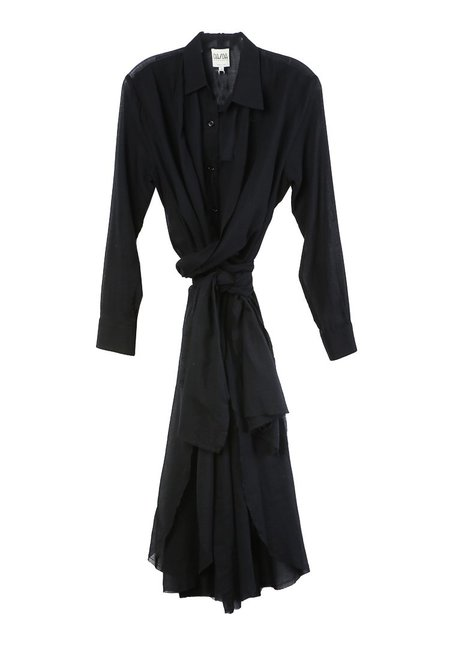Da/Da Diane Ducasse Shirt Dress - Black Voile