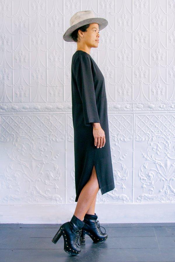 Grei Mondrian Seam Dress - Black