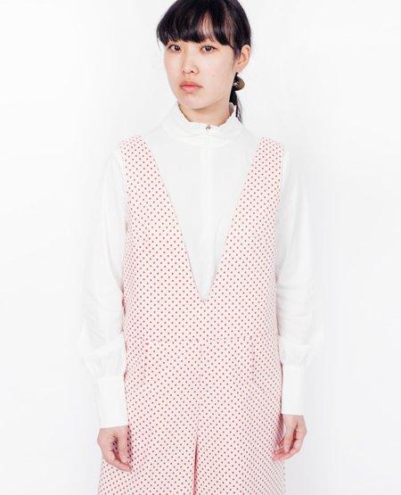Joy Mao Polka Dot Jumpsuit - Red