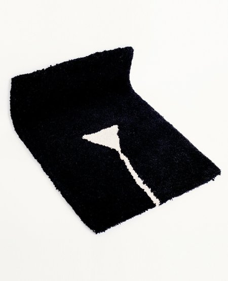 Cold Picnic Private Parts Rug - Black
