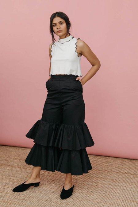 Wolcott : Takemoto Angela Pant - Black Cotton