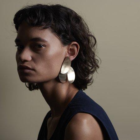 Fay Andrada Uuma Earrings - Brass