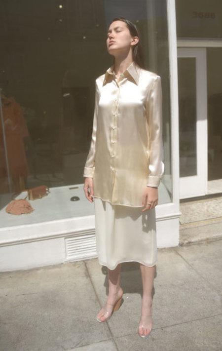 Ter et Bantine Silk Button-Up - CREAM