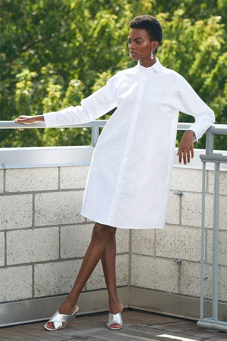 Elise Ballegeer Open-Collar Dress - white