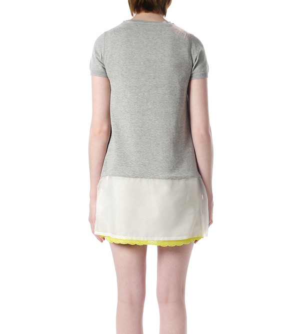 Sacai Luck Knit Dress with Yellow Lace
