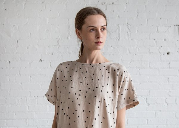 Black Crane Pleated Cocoon Dress - Polka Dress
