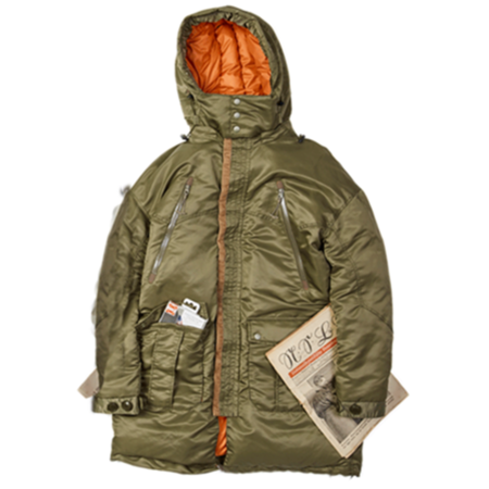 Unisex F/CE Nanga Military Twill Travel Coat - Khaki