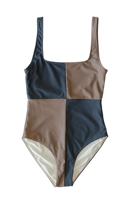 Botanica Workshop Rika Recycled Nylon Swimsuit - Tamarind/Slate