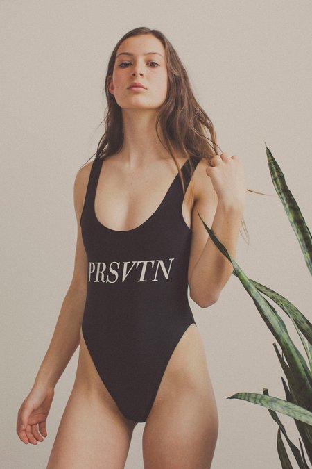 Private Party Prsvtn One Piece Swimsuit - Black