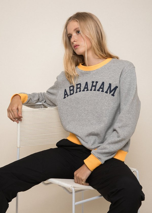 Unisex Abraham University Sweatshirt - Gray/Yellow