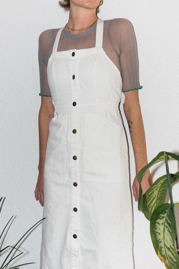 Apiece Apart Sweet Water Denim Dress - Cream