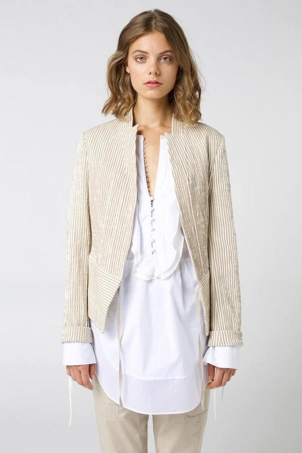 Dorothee Schumacher Textured Jacket - Stripe