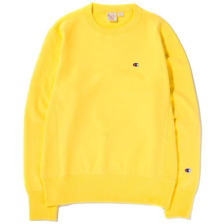 Champion Reverse Weave Crewneck Sweatshirt - Yellow