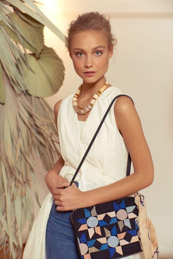 Lizzie Fortunato Safari Clutch Bag - Blue