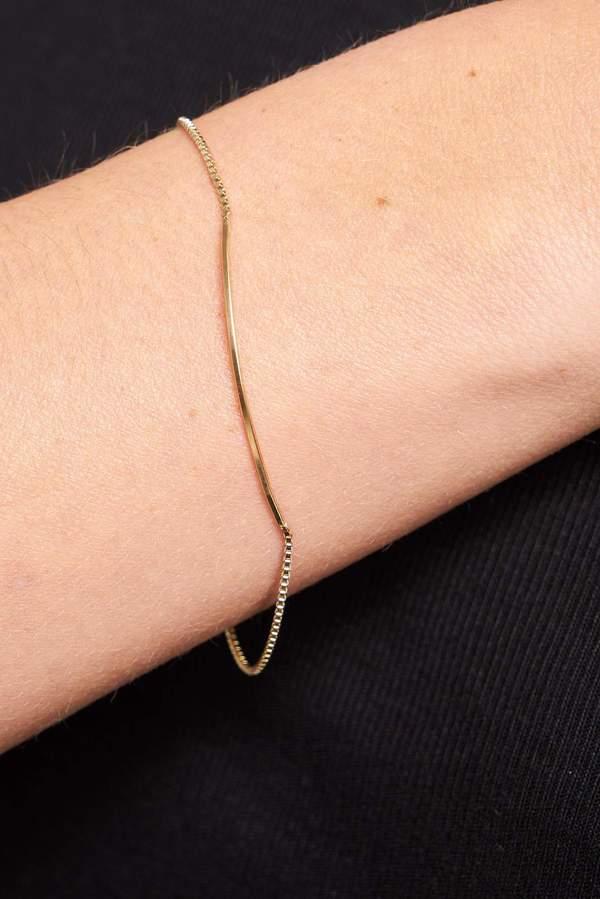 Annika Inez Curved Bar Bracelet