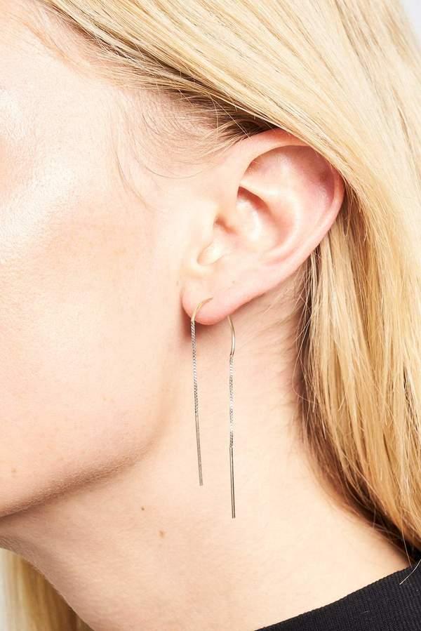 Annika Inez Single Arch Earrings - Box Chain and Wire