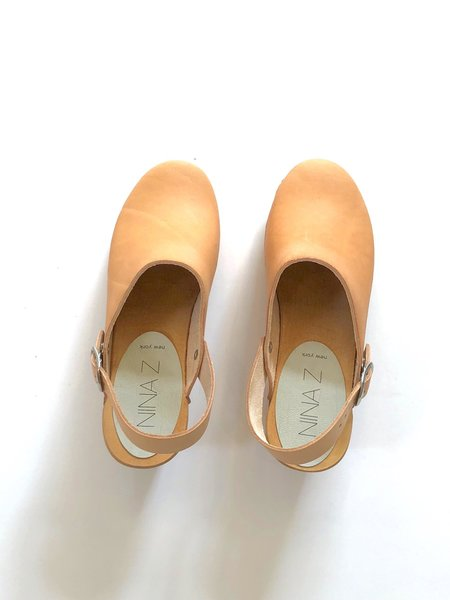 Nina Z Saga Clog - Nude Leather