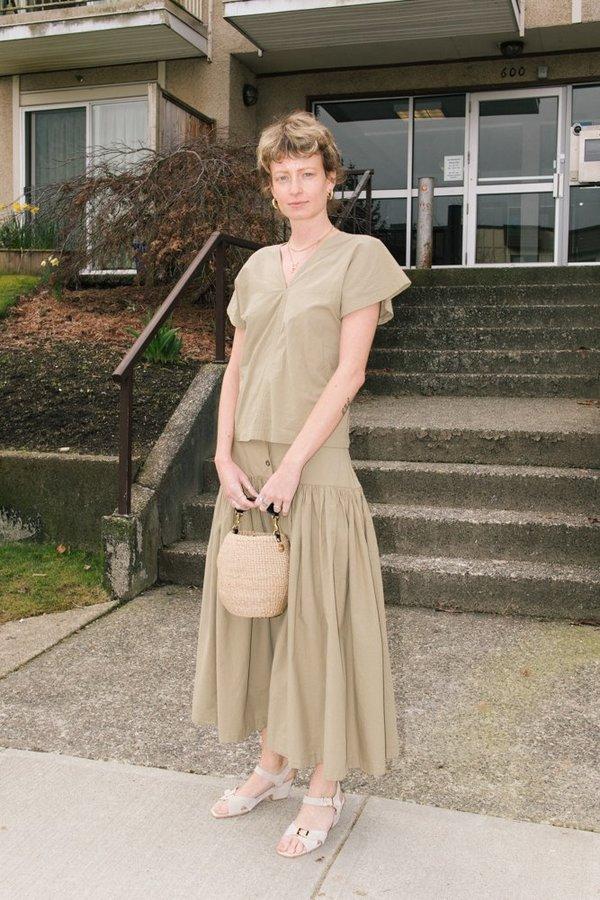 Clare V Pot de Miel Basket Bag - Cream Woven