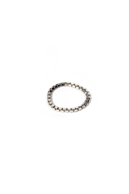 E.M. Kelly Box Chain Ring - Sterling Silver