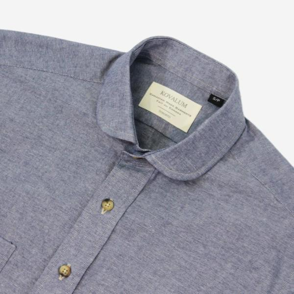 Kovalum Massey Short-Sleeve Shirt - Blue Chambray