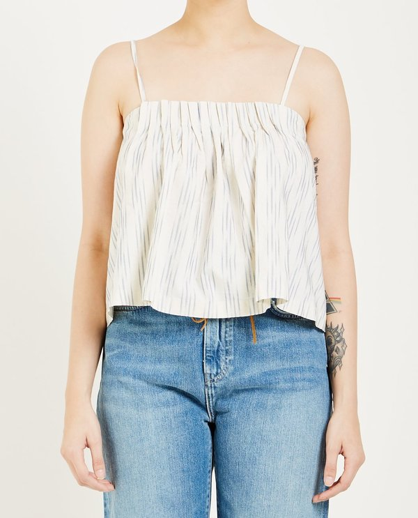 LEVI'S: MADE & CRAFTED BEACH TOP - IKAT WHITE & BLUE