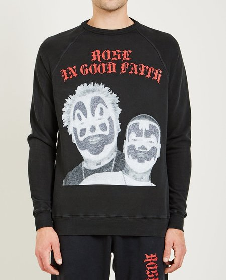 ROSE IN GOOD FAITH ICP CREWNECK SWEATSHIRT - BLACK