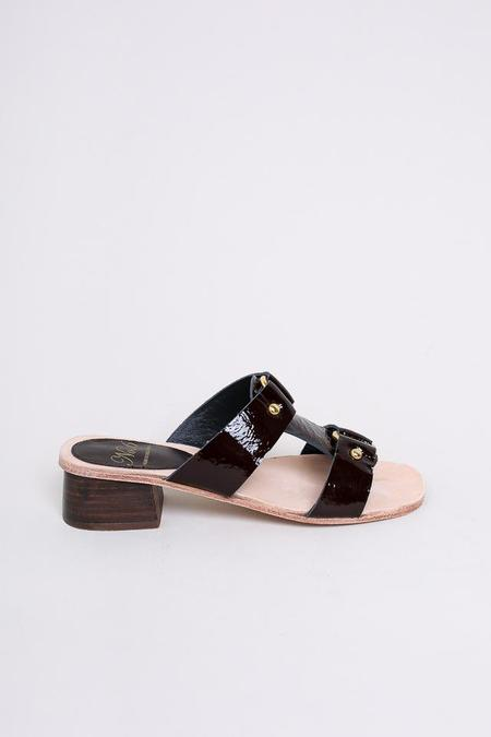 No.6 Beau Ring Sandal in Espresso Crinkle