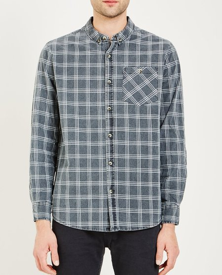Rollas TRADIE CHECK SHIRT - BLACK/WHITE