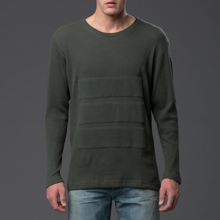 N-p-Elliott Triple Panel Long Sleeve Tee - Green