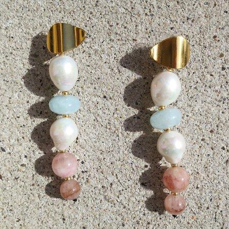 Lizzie Fortunato Pearl Column Earrings