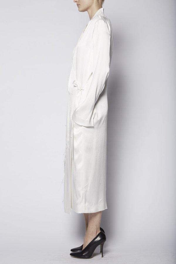 KES Wrap Asymmetric Silk Coat