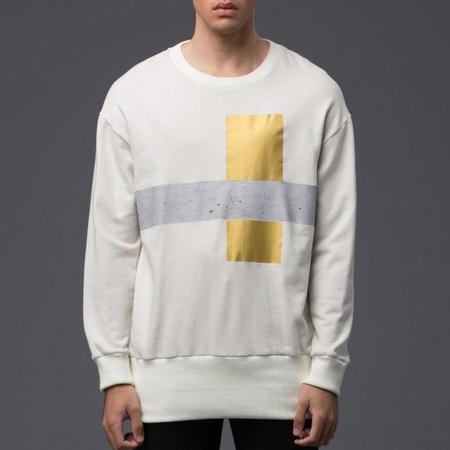 Garciavelez Maquete Print Oversized Crew Sweatshirt - Off White