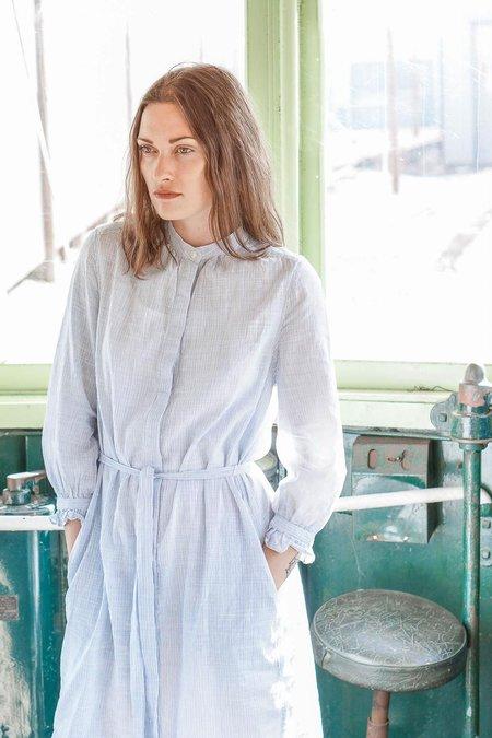 Trovata Crista Shirt Dress - Blue/White Stripes