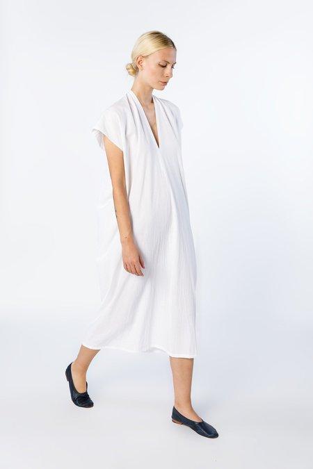 Miranda Bennett Everyday Dress in White Oversized Crinkle Cotton