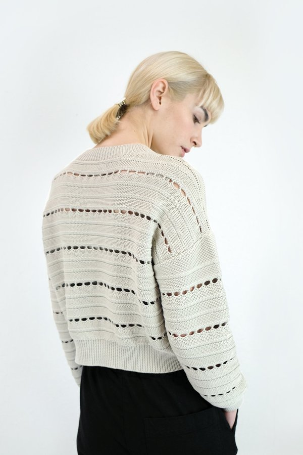 Micaela Greg Lune Sweater in Cream