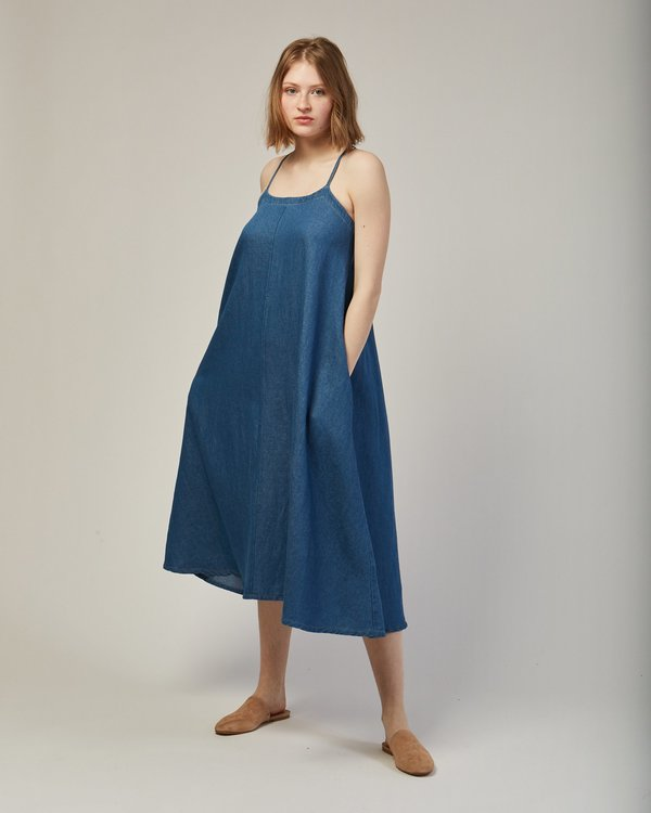 Micaela Greg Loop Dress in Blue