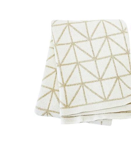 Mood Living Bijoux Throw - Ivory/ Gold