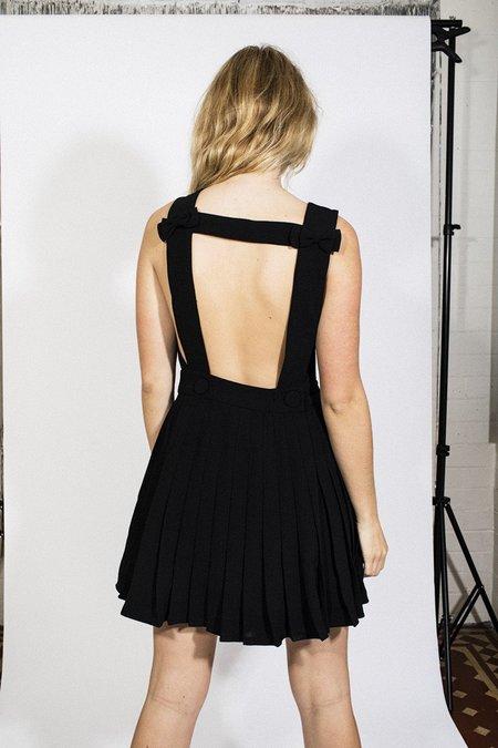 L'ecole Des Femmes Backless Bow Dress – Black