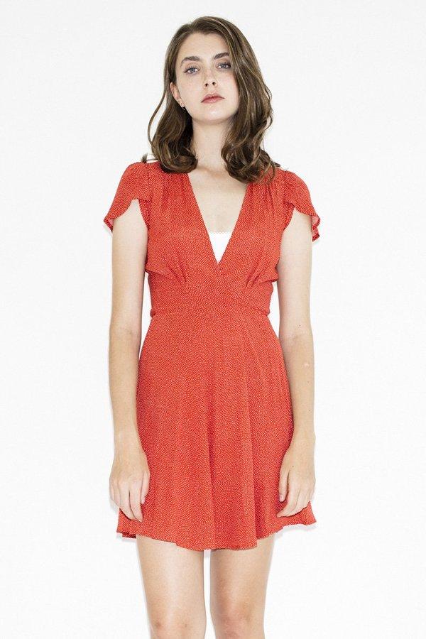 Rollas Dancer Wrap Dress –Red Spot