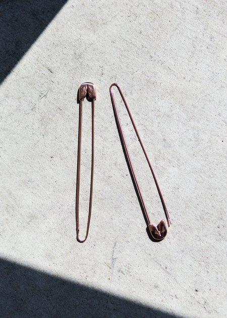 A Détacher Safety Pin Earring - Rose Gold