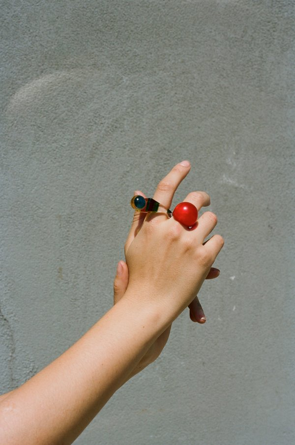 Sincerely, Tommy Vintage Lucite Ring
