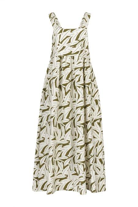 WHiT Pocket Dress - Leaf Print