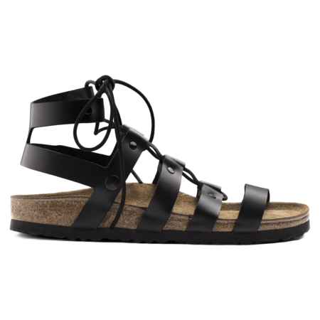 Unisex Birkenstock Cleo Leather Sandal - Black