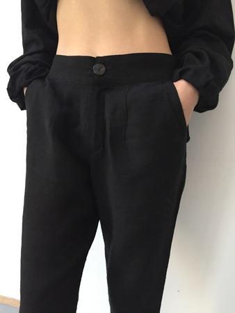 Silk Oona Pant - Black