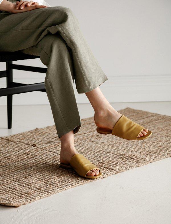 Robert Clergerie Itou Soft Sandal - Turmeric