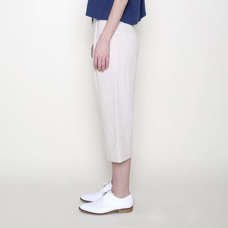 7115 Szeki 7115 by Szeki Spring Cropped Trouser - Cream