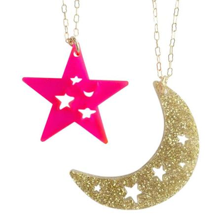 Atsuyo Et Akiko Set of Two Dream Necklace - Brass/Pink/Gold