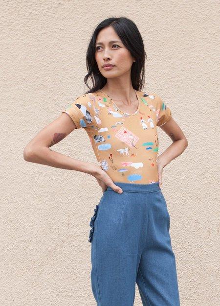 Samantha Pleet Lute Short Sleeve Bodysuit