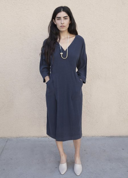 Szeki Pockets Long Sleeves Wrapdress